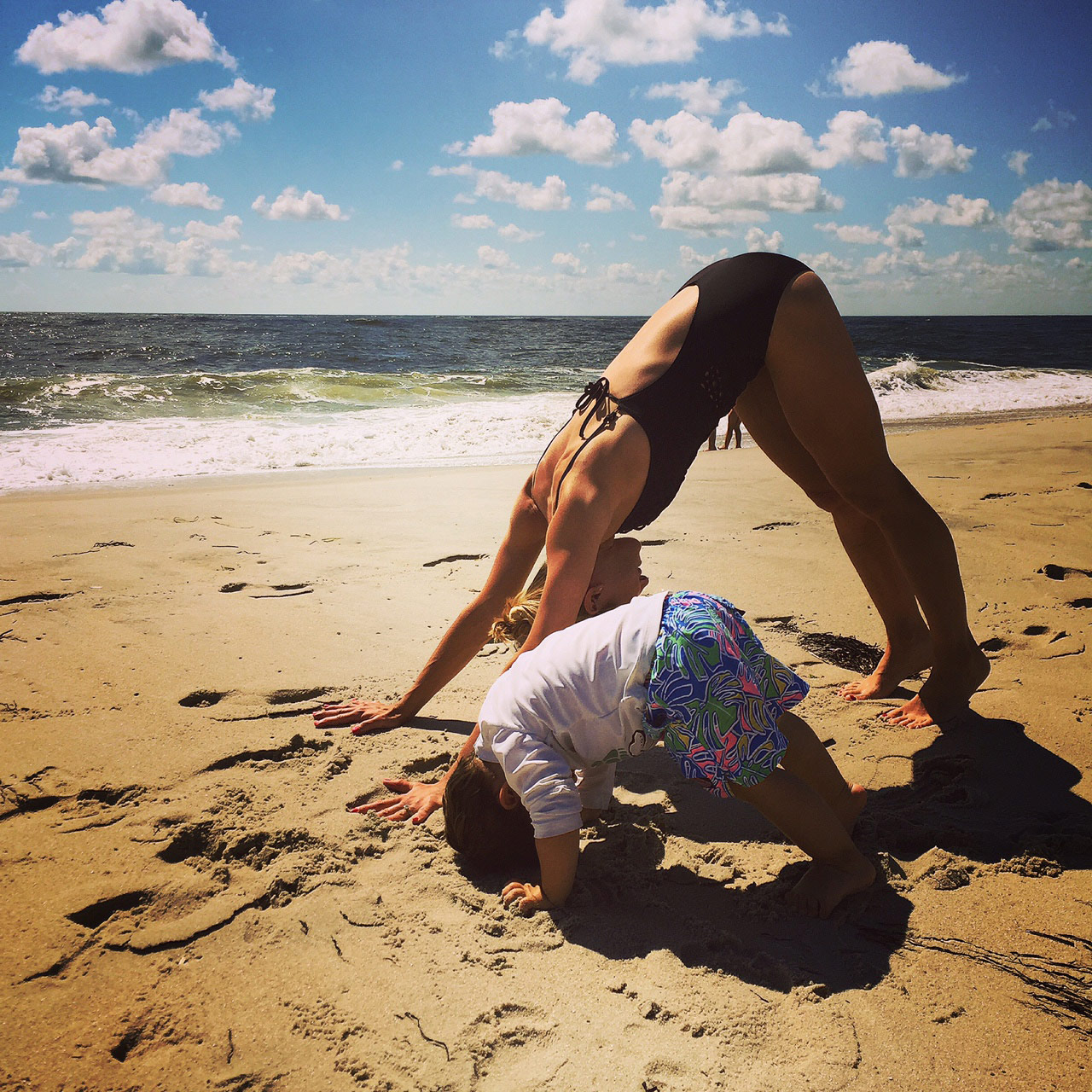 View larger photo of mommy and me beach yoga